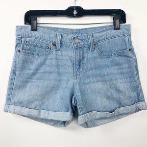 Levi's Size 27 501 Denim Cuffed Shorts Light Jeans